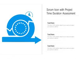 Scrum Icon With Project Time Duration Assessment