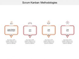 Scrum Kanban Methodologies Ppt Powerpoint Presentation Ideas Graphic Images Cpb