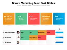 Scrum Marketing Team Task Status