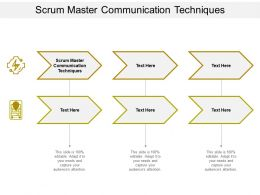 Scrum Master Communication Techniques Ppt Powerpoint Presentation Icon Display Cpb
