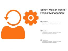 Scrum Master Icon For Project Management