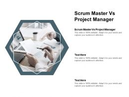 Scrum Master Vs Project Manager Ppt Powerpoint Presentation Infographics Graphic Cpb