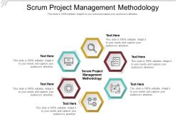Scrum Project Management Methodology Ppt Powerpoint Presentation Show Example Cpb