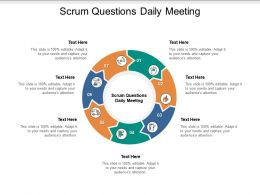 Scrum Questions Daily Meeting Ppt Powerpoint Presentation Slides File Formats Cpb