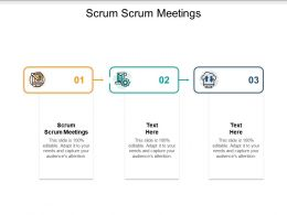 Scrum Scrum Meetings Ppt Powerpoint Presentation Slides Demonstration Cpb
