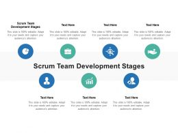 Scrum Team Development Stages Ppt Powerpoint Presentation Infographic Template Graphics Cpb