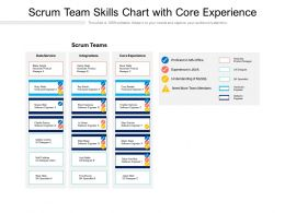 Scrum Team Skills Chart With Core Experience