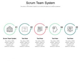 Scrum Team System Ppt Powerpoint Presentation Infographic Template Elements Cpb