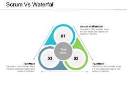 Scrum Vs Waterfall Ppt Powerpoint Presentation File Graphics Pictures Cpb