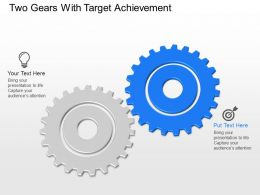 Sd Two Gears With Target Achievement Powerpoint Template