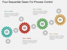 se Four Sequential Gears For Process Control Flat Powerpoint Design