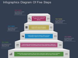 se Infographics Diagram Of Five Steps Flat Powerpoint Design