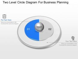 Se Two Level Circle Diagram For Business Planning Powerpoint Template