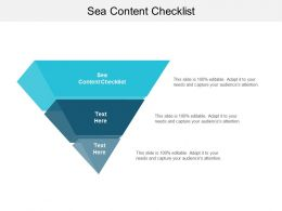 Sea Content Checklist Ppt Powerpoint Presentation Infographic Template Summary Cpb
