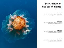 Sea Creature In Blue Sea Template