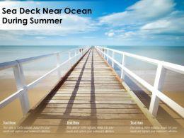 Sea Deck Near Ocean During Summer