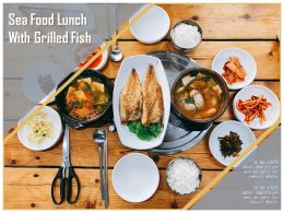 Sea Food Lunch With Grilled Fish