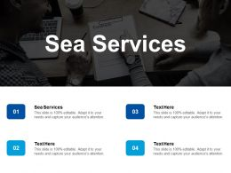 Sea Services Ppt Powerpoint Presentation File Styles Cpb
