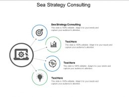 Sea Strategy Consulting Ppt Powerpoint Presentation Gallery Example File Cpb