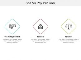 Sea Vs Pay Per Click Ppt Powerpoint Presentation Infographic Template Examples Cpb