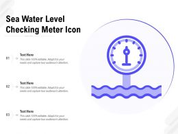 Sea Water Level Checking Meter Icon