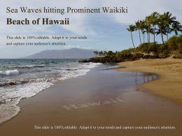 Sea Waves Hitting Prominent Waikiki Beach Of Hawaii
