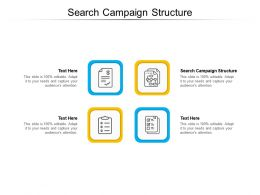 Search Campaign Structure Ppt Powerpoint Presentation Designs Cpb