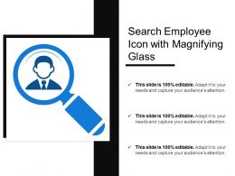 Search Employee Icon With Magnifying Glass