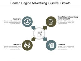Search Engine Advertising Survival Growth Ppt Powerpoint Presentation Styles Background Image Cpb