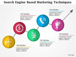 Search Engine Based Marketing Techniques Flat Powerpoint Design