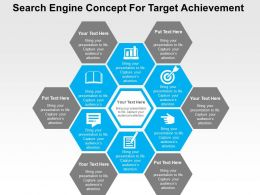 Search Engine Concept For Target Achievement Flat Powerpoint Design