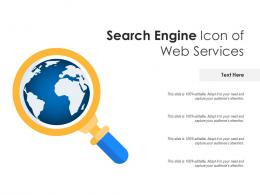 Search Engine Icon Of Web Services