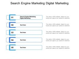 Search Engine Marketing Digital Marketing Ppt Powerpoint Presentation Icon Cpb