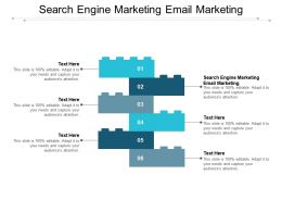Search Engine Marketing Email Marketing Ppt Powerpoint Presentation Infographics Graphics Cpb