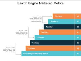 Search Engine Marketing Metrics Ppt Powerpoint Presentation Model Samples Cpb