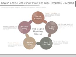 Search Engine Marketing Powerpoint Slide Templates Download