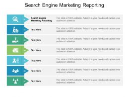 Search Engine Marketing Reporting Ppt Powerpoint Presentation Model Themes Cpb