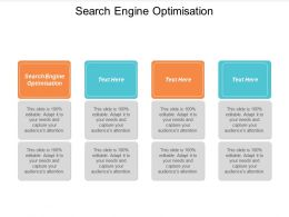 Search Engine Optimisation Ppt Powerpoint Presentation Slides Display Cpb