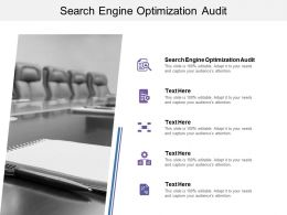 Search Engine Optimization Audit Ppt Powerpoint Presentation Infographics Brochure Cpb