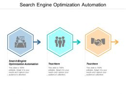Search Engine Optimization Automation Ppt Powerpoint Presentation Model Infographics Cpb
