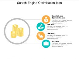 Search Engine Optimization Icon Ppt Powerpoint Presentation Model Tips Cpb