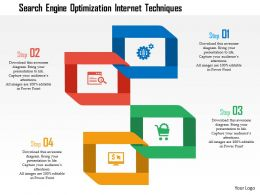 Search Engine Optimization Internet Techniques Flat Powerpoint Design