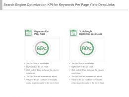 Search Engine Optimization Kpi For Keywords Per Page Yield Deep Links Ppt Slide