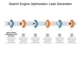 Search Engine Optimization Lead Generation Ppt Powerpoint Presentation Infographics Guide Cpb
