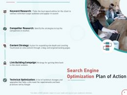 Search Engine Optimization Plan Of Action Ppt Powerpoint Presentation Introduction