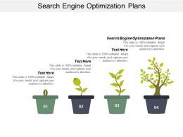Search Engine Optimization Plans Ppt Powerpoint Presentation Icon Grid Cpb