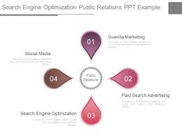 Search Engine Optimization Public Relations Ppt Example