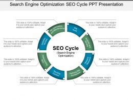 Search Engine Optimization Seo Cycle Ppt Presentation