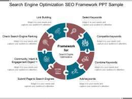Search Engine Optimization Seo Framework Ppt Sample