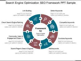 Search Engine Optimization Seo Framework Ppt Sample